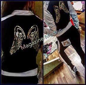 Женский спортивный костюм крылья трикотаж , фото 2