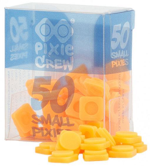 Пікселі силіконові помаранчевий неон (50 шт) Pixie Crew PXP-01-03