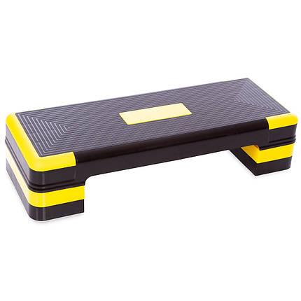 Степ-платформа FI-1574 (PP, р-р 90Lx34Wx10-20Нсм, чорний), фото 2