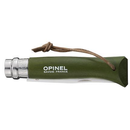 Складной нож с деревянной ручкой и темляком Opinel Inox Origins Khaki No.08  (001703)