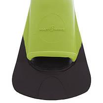 Ласти тренувальні із закритою п'ятою MadWave M074903 (гума, розмір 32-44, зелений), фото 2