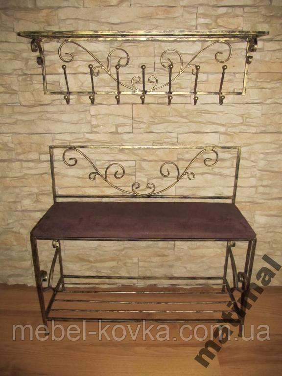 Меблі в передпокій (ковані банкетка і вішалка ) 32