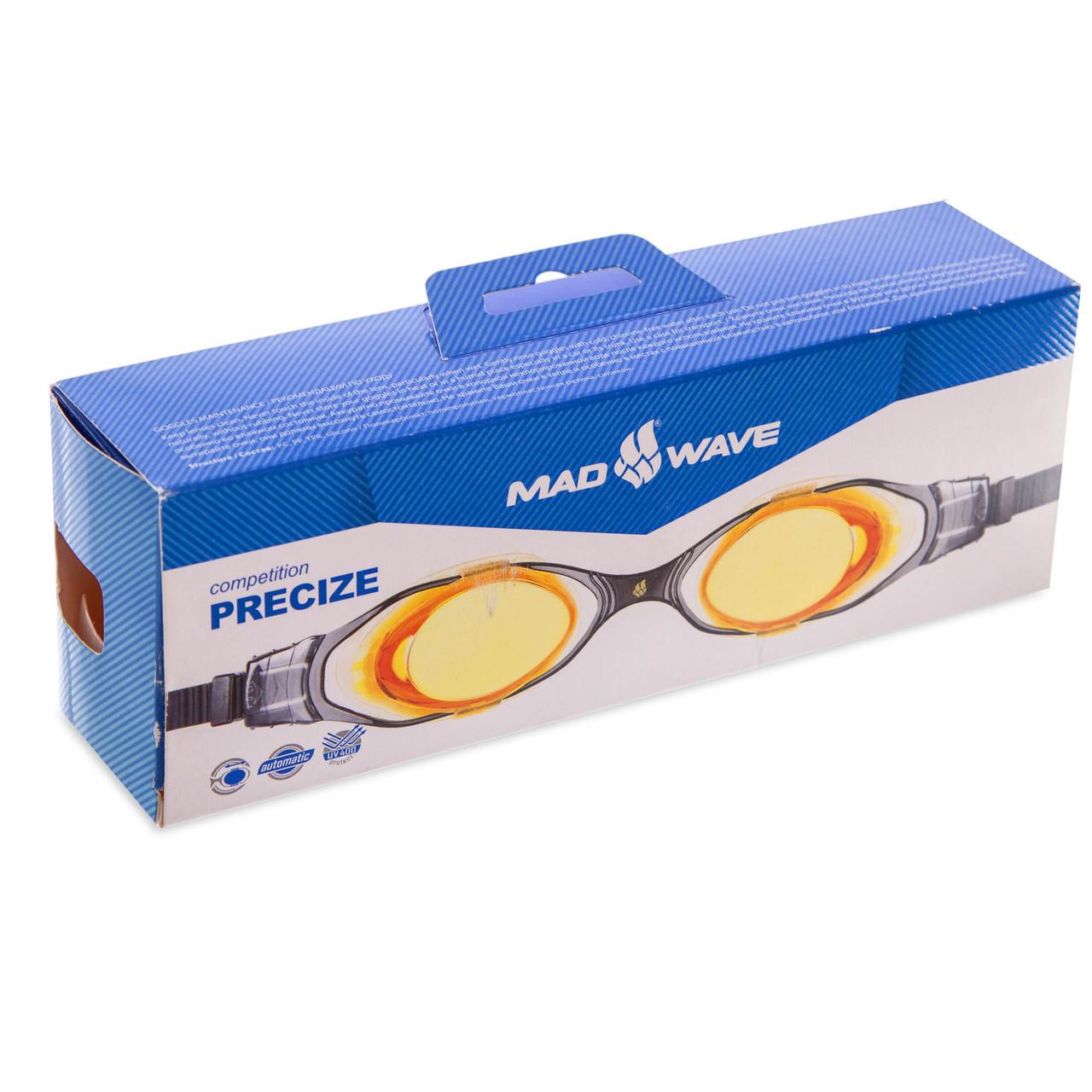 Очки для плавания MadWave PRECIZE M045101 (поликарбонат, силикон, цвета в ассортименте)