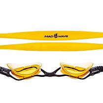 Очки для плавания MadWave PRECIZE M045101 (поликарбонат, силикон, цвета в ассортименте), фото 3
