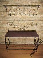 Мебель в прихожую (кованая банкетка и вешалка ) 33