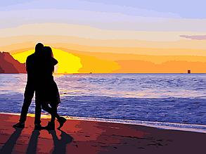 Картина по номерам Влюбленные на побережье