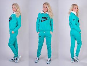 Женский спортивный костюм Nike с начесом норма и батал, фото 2