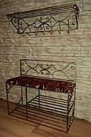 Мебель в прихожую (кованая банкетка и вешалка ) 35