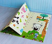 Детский коврик для ползания термо двухсоронний Животные - Ростомер, коврик в детскую комнату, коврик для детей