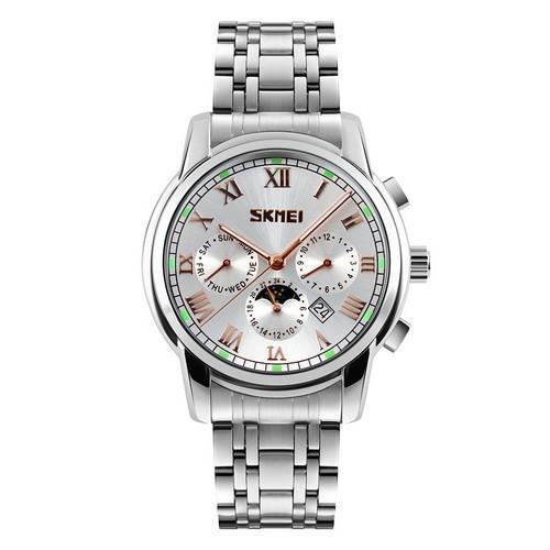 Skmei 9121 All Silver  ABR-1080-0627