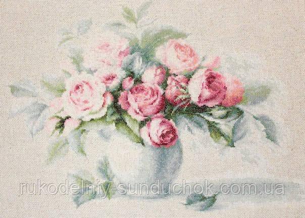 """Набор для вышивания крестом """"Luca-s"""" BL2280 Этюд с чайными розами"""