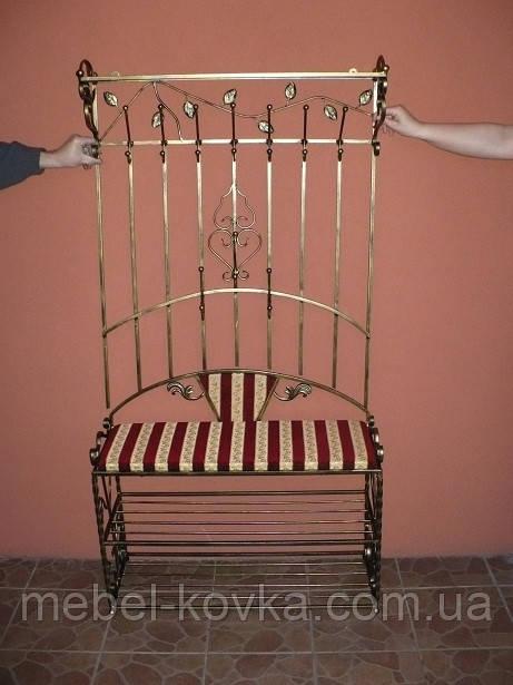 Меблі в передпокій (ковані банкетка і вішалка ) 34