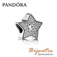 Шарм Pandora ЗВЕЗДА ЖЕЛАНИЯ ПАВЕ 791384CZ серебро 925 цирконий Пандора оригинал, фото 1