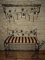 Мебель в прихожую (кованая банкетка и вешалка ) 36