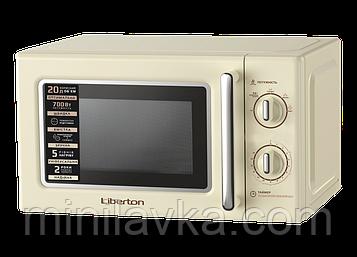 Мікрохвильова піч Liberton LMW-2088M Ivory 20 л, 700 Вт