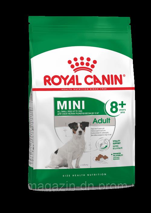 Royal Canin Mini Adult 8+ для собак мелких размеров старше 8 лет, 0,8 кг