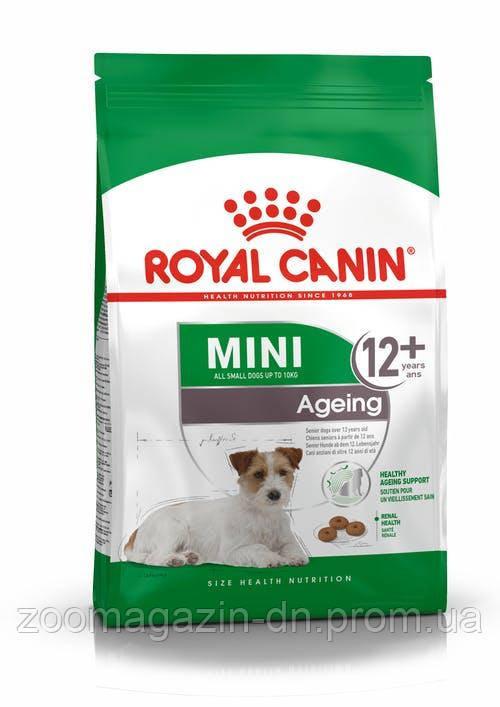 Royal Canin Mini Ageing 12+ для стареющих собак мелких размеров старше 12 лет, 0,8 кг