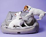 Лежак Harley and Cho Sofa Wolf Mocca, бежевый/коричневый,  М, 70х50 см, фото 2