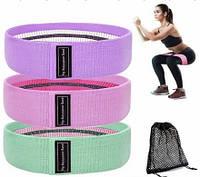 Набор резинок для фитнеса Hip Resistance Band (3 шт.) DL161