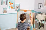 Двосторонній дерев'яний мольберт Smoby Toys Весела навчання 50х55х120 см (410400), фото 5