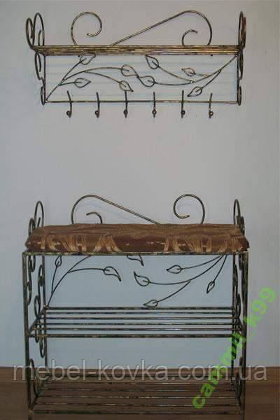 Меблі в передпокій (ковані банкетка і вішалка ) 39