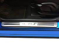 Mazda 3 Пороги Libao (4шт, нерж)
