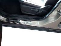 Ford Courier Хром накладки на пороги OmsaLine