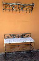 Мебель в прихожую (кованая банкетка и вешалка ) 42