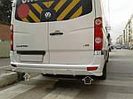 Volkswagen Crafter Накладка на бампер задний V1
