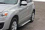Mitsubishi ASX 2010↗/2016↗ рр. Бічні пороги Allmond Grey (2 шт., алюм.)