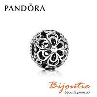 Шарм Pandora Серебряная Бусина с ажурными цветами 790965 серебро 925 Пандора Оригинал