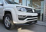 Volkswagen Amarok Передній вус подвійний 2016↗ Vegas (чорний)
