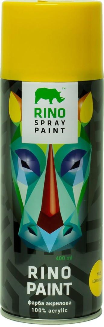 Универсальная акриловая аэрозольная эмаль Rino Paint (Лимон RP-25)