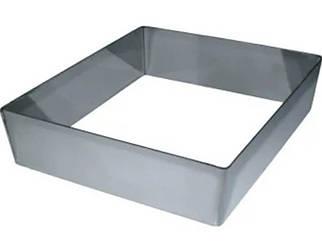 Квадратна форма для формування тортів і десертів 24х24 см, висота 10 см