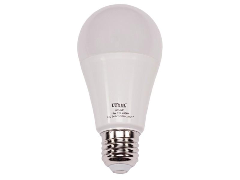 Светодиодная лампа Luxel A60 15W 220V E27 6500K (ECO 065-CE 15W)