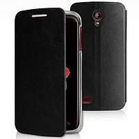 Чехол книжка Flip Cover для Lenovo A850 черная
