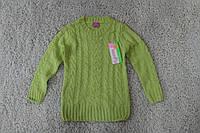 Вязаный свитер для девочек 4 и 6 лет