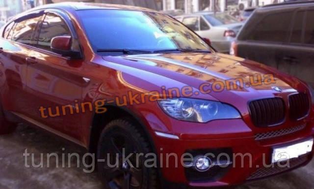 Дефлекторы окон (ветровики) Cobra Tuning на BMW X6 (E71-E72) 2008 +