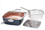 Сковорода с крышкой фритюрница-пароварка с антипригарным покрытием Top Kitchen, фото 2