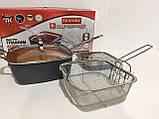 Сковорода с крышкой фритюрница-пароварка с антипригарным покрытием Top Kitchen, фото 4