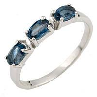 Серебряное кольцо DreamJewelry с натуральным топазом Лондон Блю 0.78ct (0463070) 17.5 размер