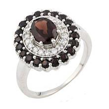 Серебряное кольцо DreamJewelry с натуральным гранатом (0477633) 18 размер