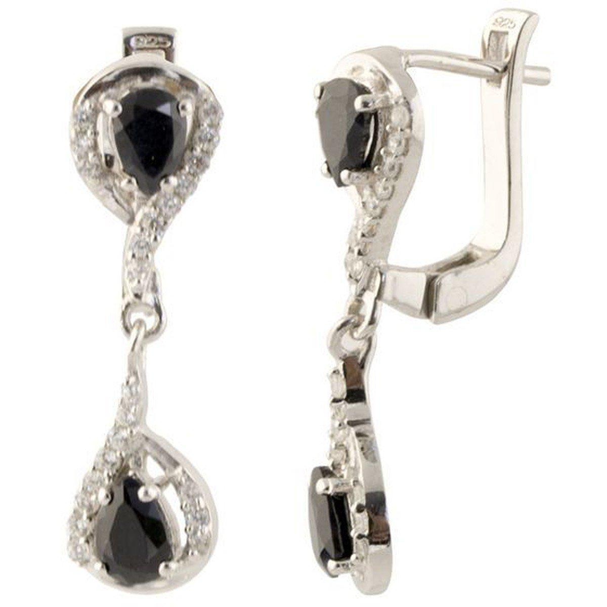 Серебряные серьги DreamJewelry с натуральным сапфиром (1136218)