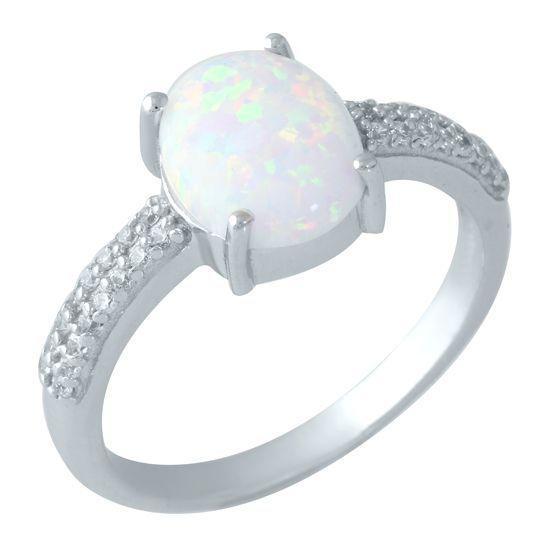 Серебряное кольцо DreamJewelry с опалом 1.365ct (1958759) 18 размер