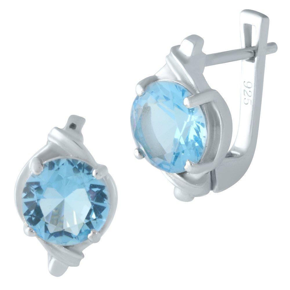 Серебряные серьги DreamJewelry с аквамарином nano (1963630)