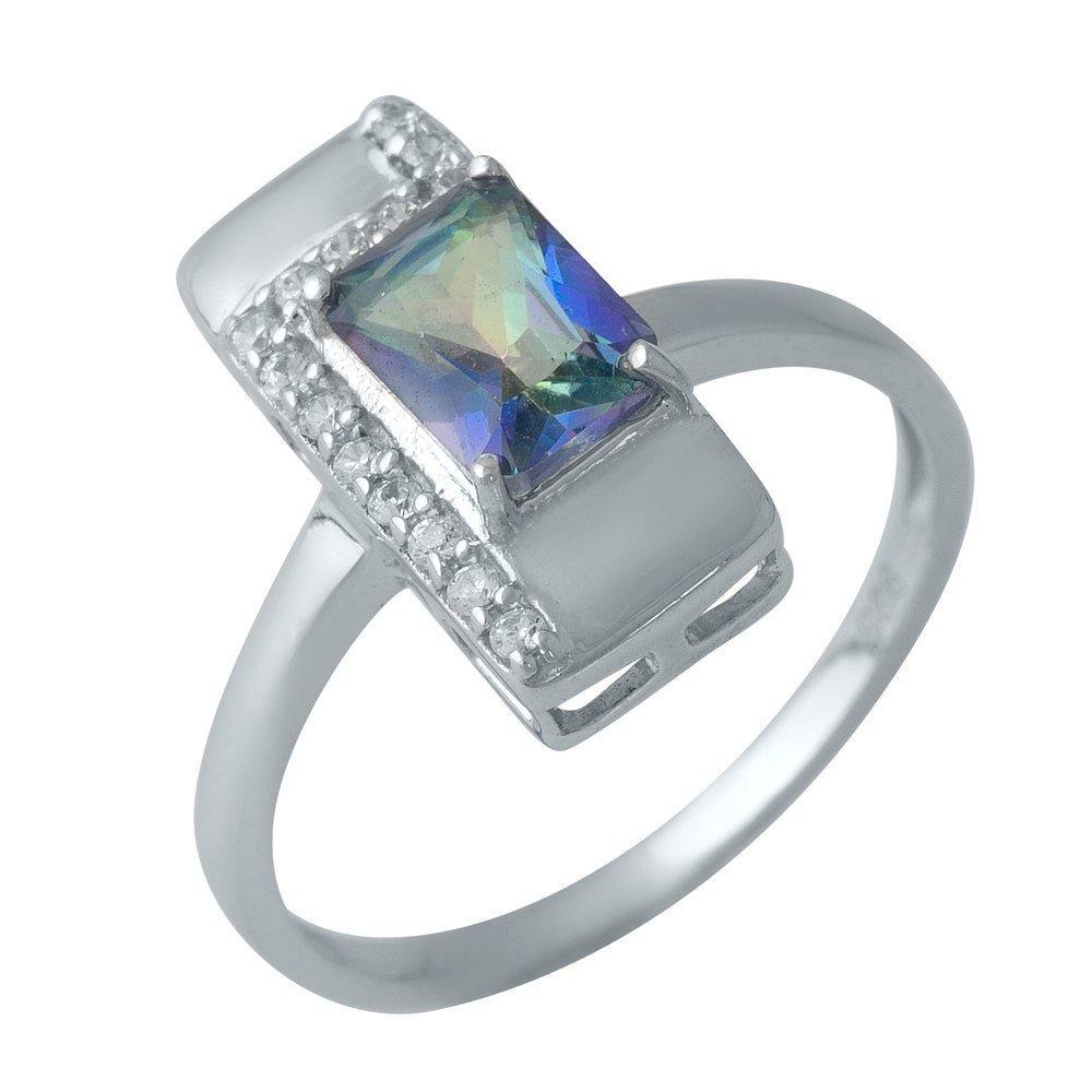Серебряное кольцо DreamJewelry с натуральным мистик топазом (1990278) 17 размер