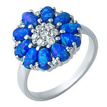 Серебряное кольцо DreamJewelry с опалом 2.08ct, фианитами (1922026) 16.5 размер