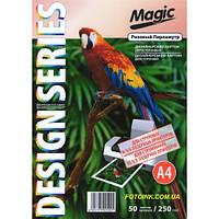 Дизайнерская бумага Мagic А4 Двухсторонняя   Розовый Перламутр  250 г /м², 50л