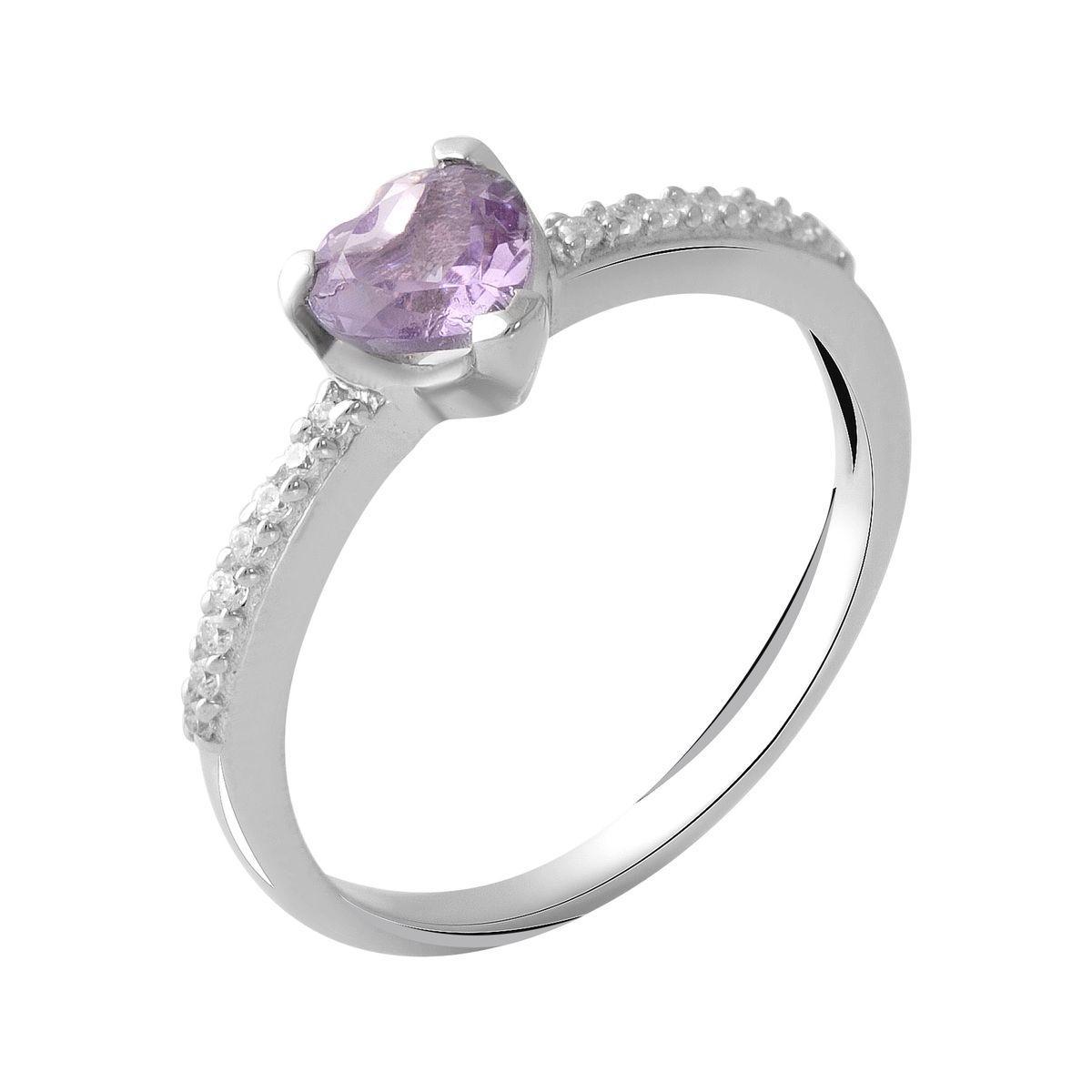 Серебряное кольцо DreamJewelry с натуральным аметистом 0.69ct (2048824) 18 размер