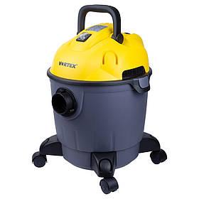 Пылесос строительный 1200Вт 1.5м3/мин 15.5КПа пластиковый бак 18л, VORTEX 5346233